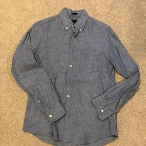 J Crew blue men's shirt